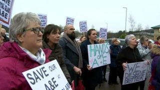 Royal Glamorgan protest