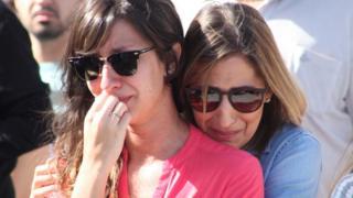 Sepultamento coletivo das 12 vítimas da chacina contra uma família, no Cemitério da Saudade, em Campinas