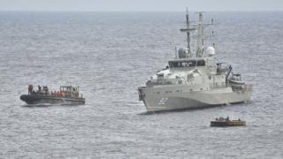 An Australian Navy vessel intercepts a boat of asylum seekers in 2012