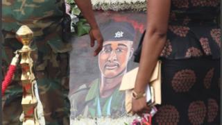Ce jeune militaire ghanéen a été tué par une foule en furie fin mai alors qu'il faisait du Jogging.
