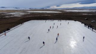 Хоккейный турнир в Кош-Агачском районе Республики Алтай