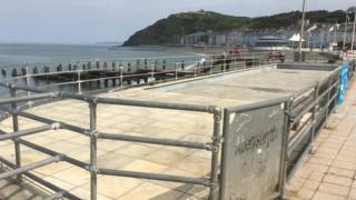 Paddling pool on Aberystwyth promenade