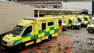North West Ambulance Service vehicles