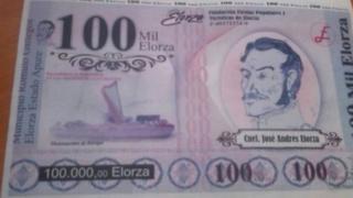 Uang kertas Elorza