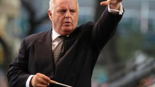Daniel Barenboim conducts an orchestra. File photo