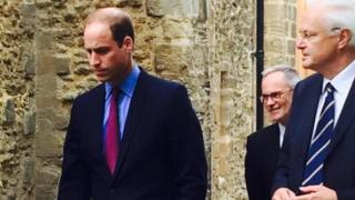 The Duke of Cambridge at the archive centre