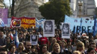 March against the disappearance of activist Santiago Maldonado, Buenos Aires, 1 Sep 17