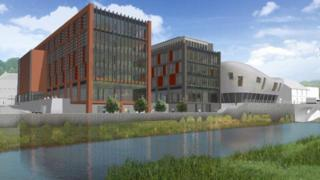 Plans for the new Taff Vale development
