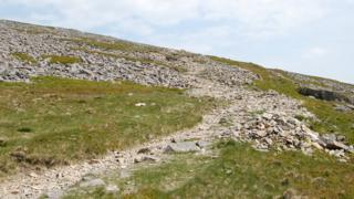 Cairns on the Tŷ Nant Path, Cadair Idris