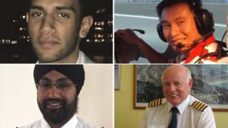 Clockwise from top left: Saavan Singh Mundae, Ngyyen Thanh Trung, Mike Green and Jaspal Singh Bhara