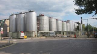 Carlsberg brewery in Northampton