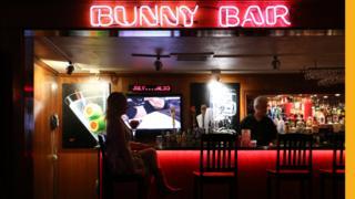 interior of Bunny Bar