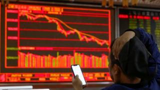 中国股市在周四跟随美国股市大跌。