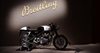 Norton motorbike in display during the Breitling Baselworld Summit 2019