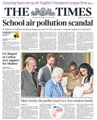 The Times front page 09/05/19
