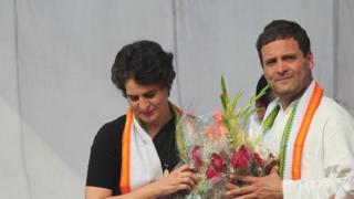 پرینکا اور راہل گاندھی