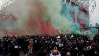 Fans at Old Trafford