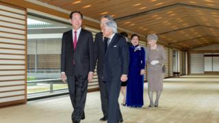 Nhà vua Akihito và Hoàng hậu Nhật Bản chủ trì Quốc yến chào đón Chủ tịch nước Trần Đại Quang và Phu nhân