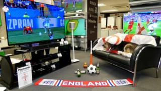 England flags in store