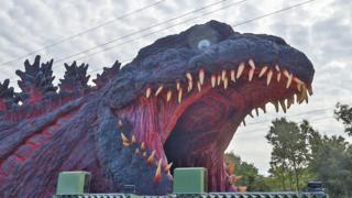 Godzilla at the Japanese theme park