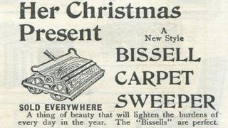 Bissell carpet sweeper advert