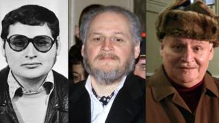 "This combination of file pictures created on March 28, 2017 shows (L-R) a portrait of Venezuelan self styled revolutionary Ilich Ramirez Sanchez, also known as ""Carlos the Jackal"" taken in the early 1970s, Ramirez arriving to face trial at the Palais de Justice in Paris on March 7, 2001 and arriving at the Criminal Court of the Palais de Justice in Paris on December 9, 2013."
