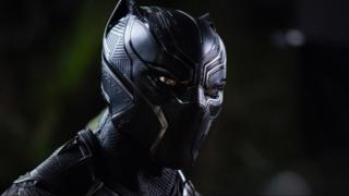 Chadwick Boseman as the Black Panther in the latest Marvel film