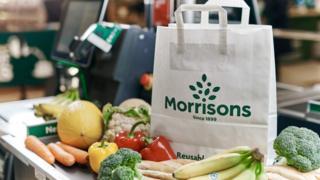 Morrisons paper carrier bag