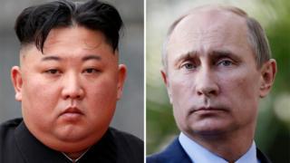 Kim Jong-un y Vladimir Putin