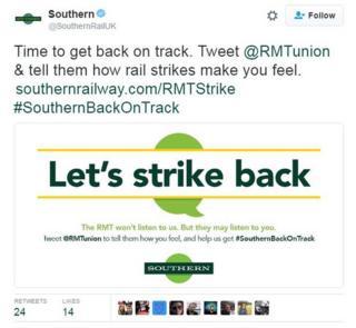 South tweet