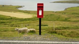 Postbox on Yell, Shetland