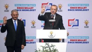 Binali Yıldırım ve Recep Tayyip Erdoğan