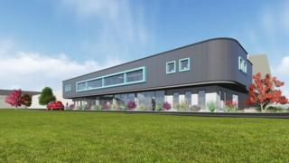An artistic impression of the proposed factory extension
