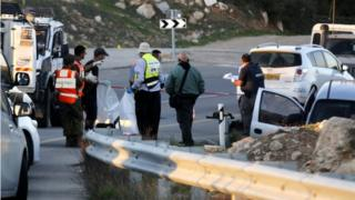 Scene of drive-by shooting in West Bank (13/11/15)