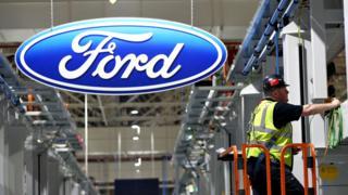 A Ford factory in Dagenham