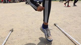 Skakač u vis bez noge