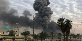 عکس خبرگزاری فارس از صحنه یکی از حملات یکشنبه