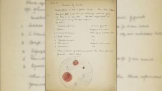 Lab notes made by Sir Alexander Fleming.
