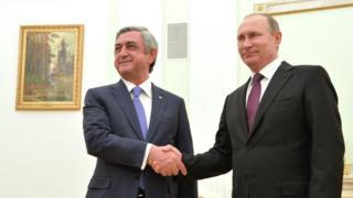 Саргсян и Путин
