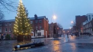 Dublin city centre crash scene