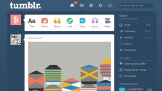 Screenshot of Tumblr dashboard