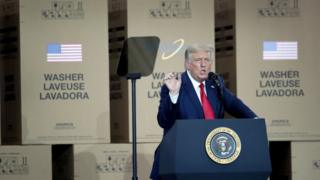 Donald Trump speaks in Ohio