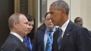 باراك أوباما وفلاديمير بوتين