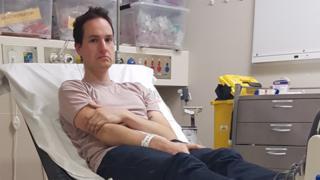 Daniel Reardon in hospital