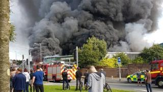 Fire at paintball centre