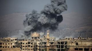 Bombing in Ein Tarma, the Eastern Ghouta, Syria