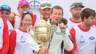 Bear Grylls and his team being awarded the King's Cup