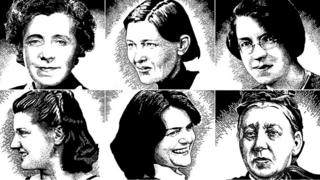 Collage of prominent women