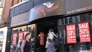 The former Selectadisc record shop on Market Street, Nottingham