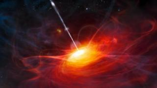 ก่อนหน้าการค้นพบล่าสุดนี้ เควซาร์ ULAS J1120+0641เป็นวัตถุส่องสว่างซึ่งเกิดจากหลุมดำมวลยิ่งยวดที่อยู่ห่างจากโลกมากที่สุด